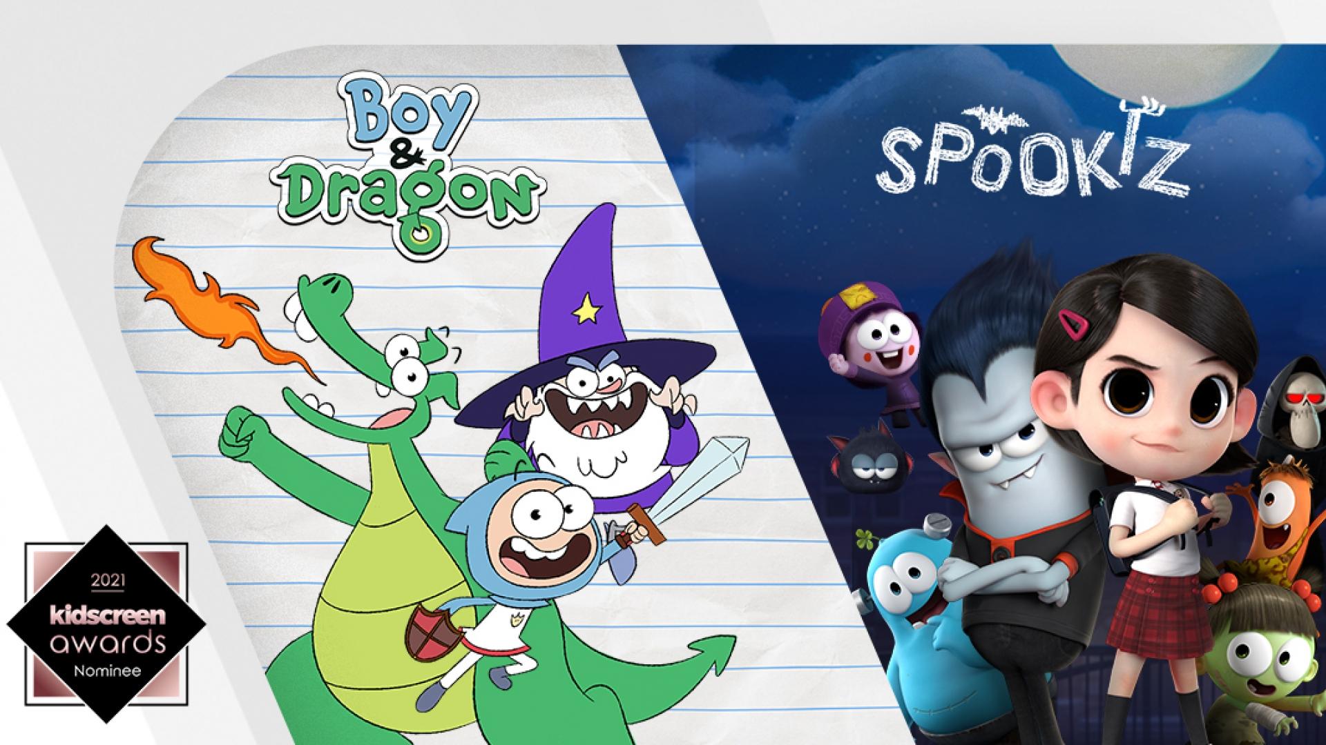 boy dragon wizard spookiz wildbrain spark kidscreen awards