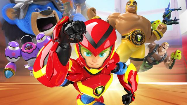computer animated toy superheroes have come to life and are rushing towards you